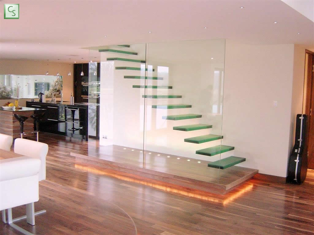 Modern and exquisite floating stair designs