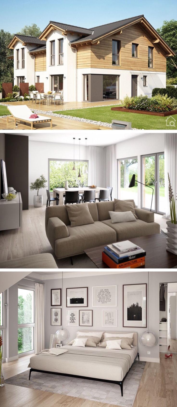 Modern family house with modern furnishings