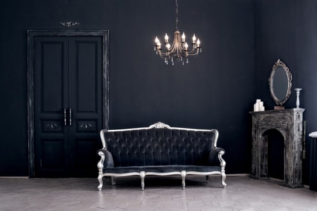 Modern Gothic interior design with its features and furniture