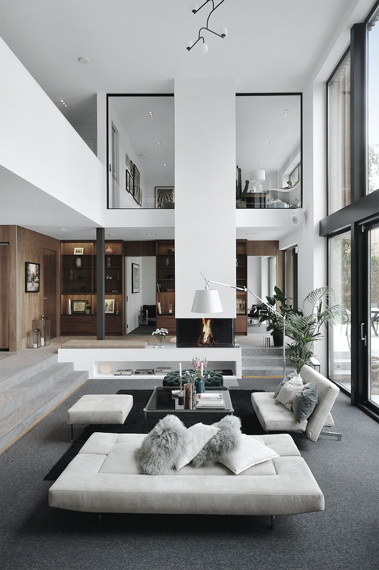 Modern house with a fresh interior design and sleek architecture
