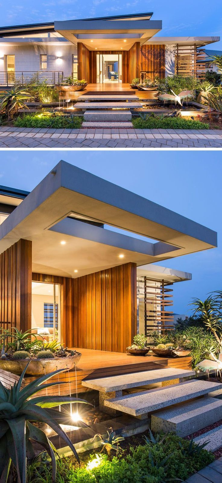 Modern residence that has a really eye-catching appearance
