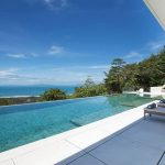 Modern tropical VIlla with an enormous sparkling pool