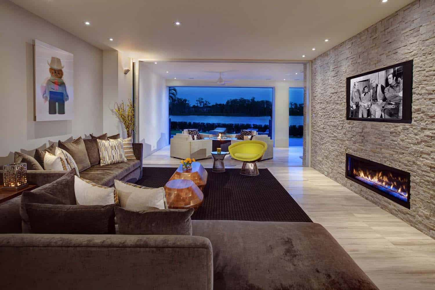 New modern home from Phil Kean designs with gorgeous interior design