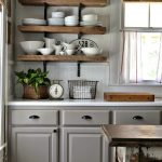Open kitchen cabinets are easier to use