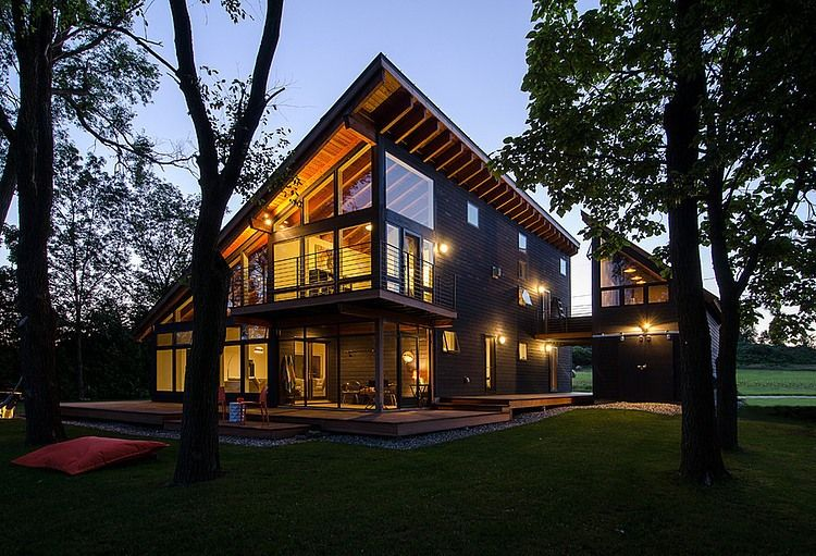 Saturna Island Retreat and its large, expansive windows
