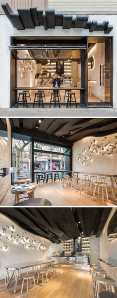 Shop windows of coffee shops and restaurant interior design – 41 examples
