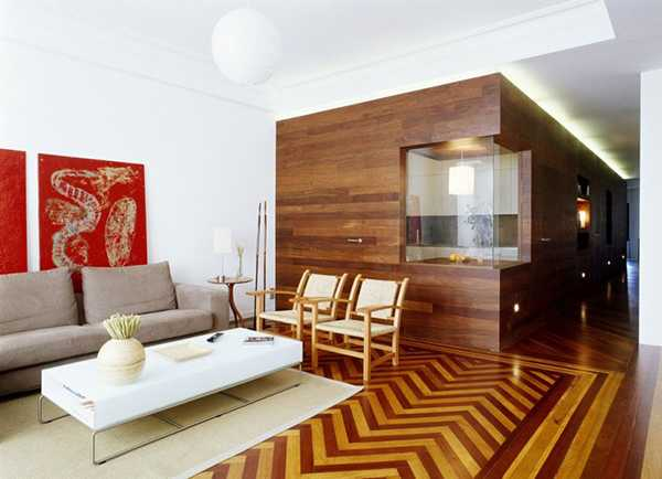 Showcase of the impressive interior design of the wooden kitchen