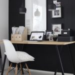 Simple and stylish office furnishings with modern influences