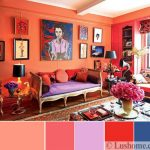 The coral color: how to use it to decorate beautiful interiors