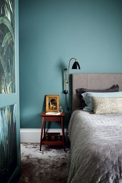 Turquoise interior design is always a good idea
