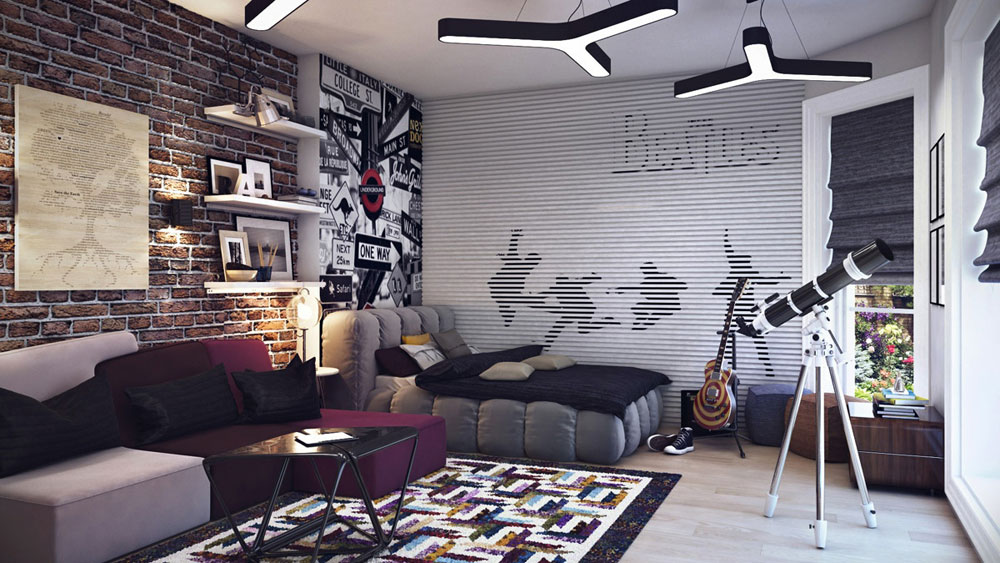 With this type of inspiration, decorating a teenage room should be easy
