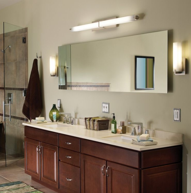 Bathroom lights over mirror –the perfect lighting in the bathroom