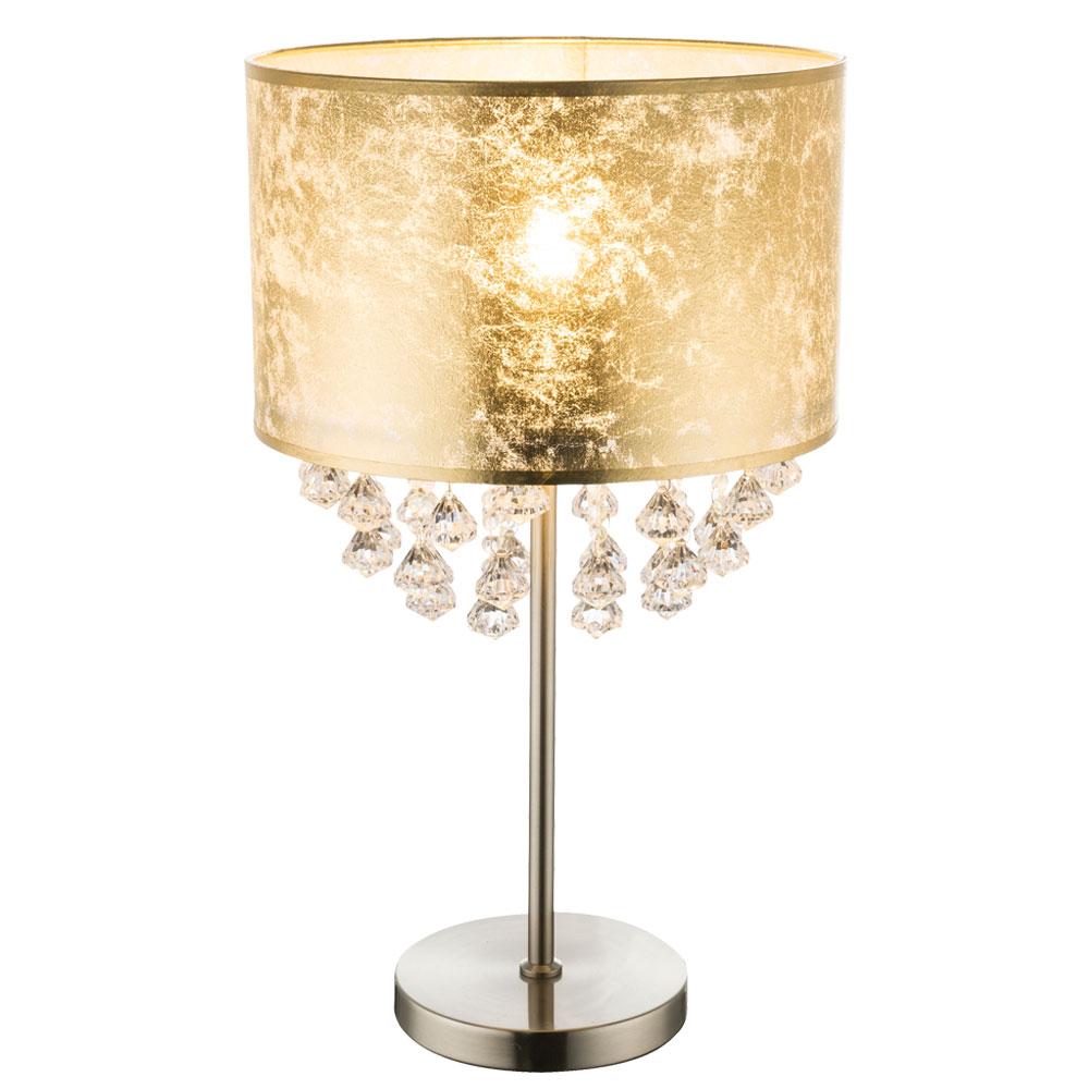 Bedside lamp in gold leaf