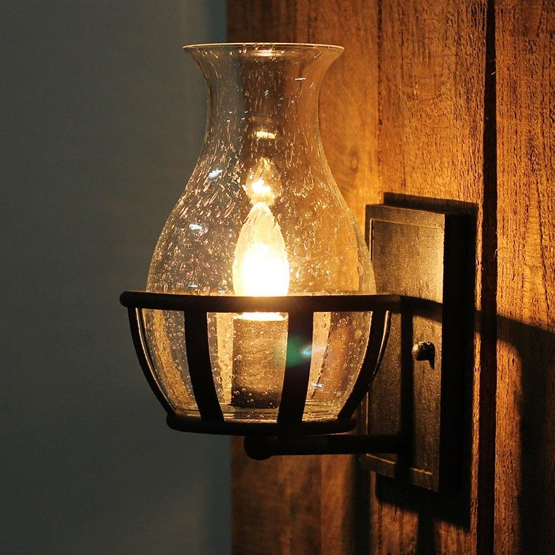 Candelabra wall lamps in the light bulbs