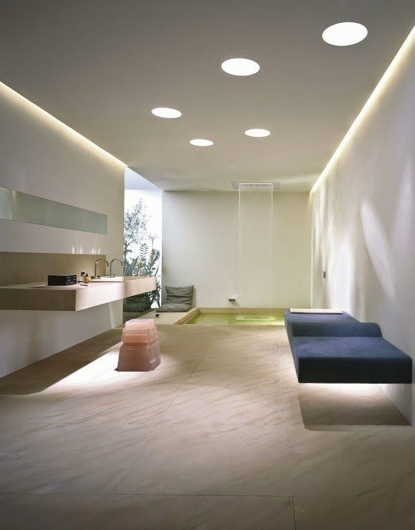 Ceiling lights in the bathroom