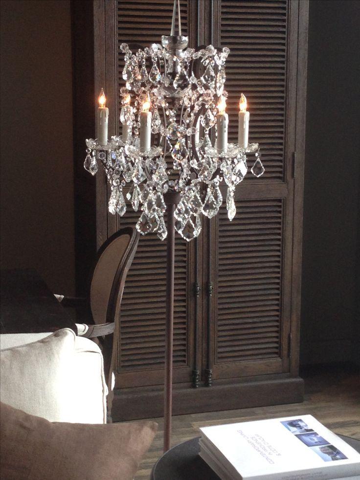 Chandelier floor lamp ideas