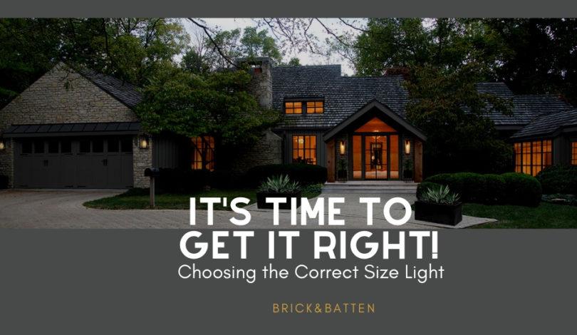 Choosing exterior light