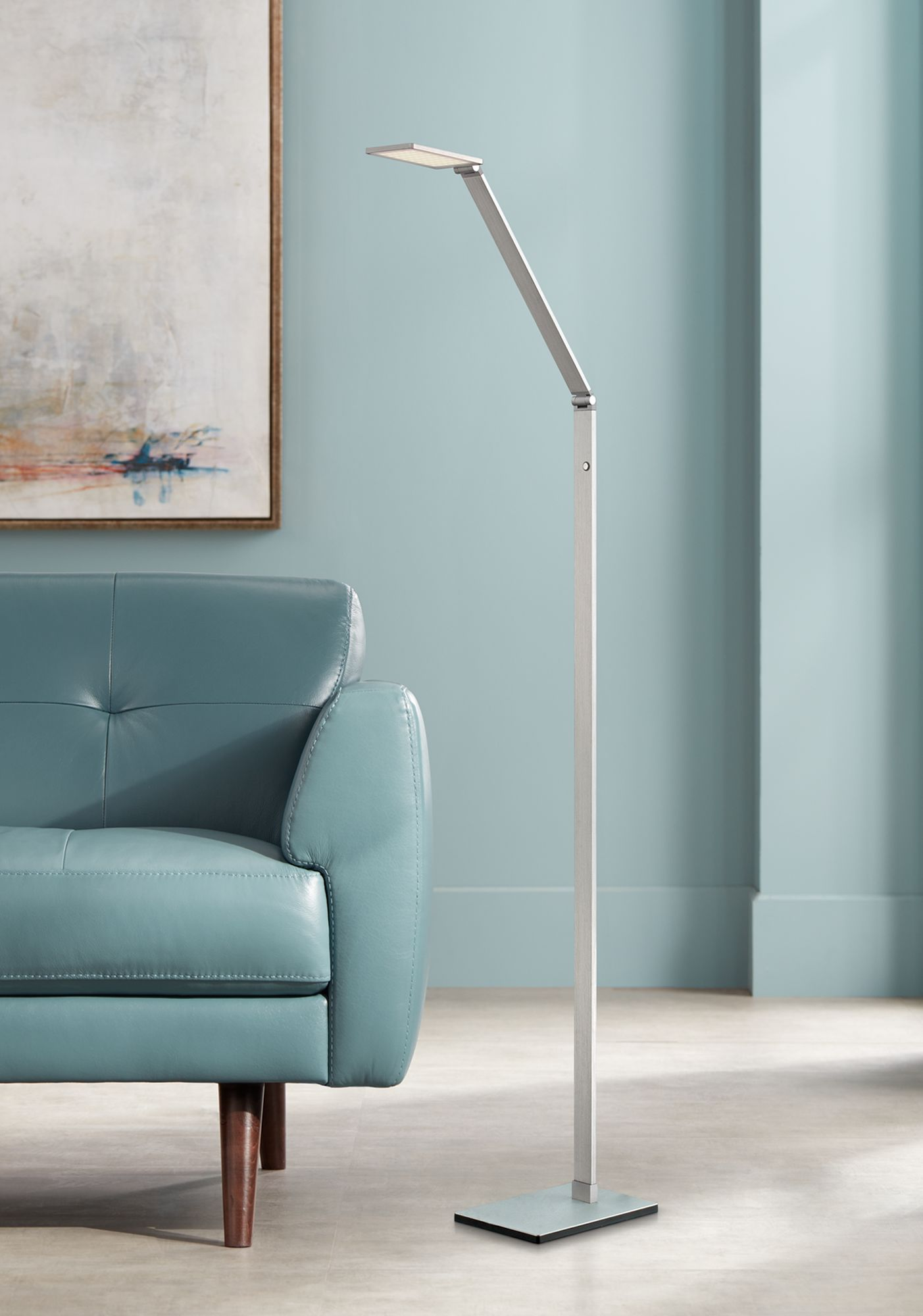 Contemporary floor-reading lamps