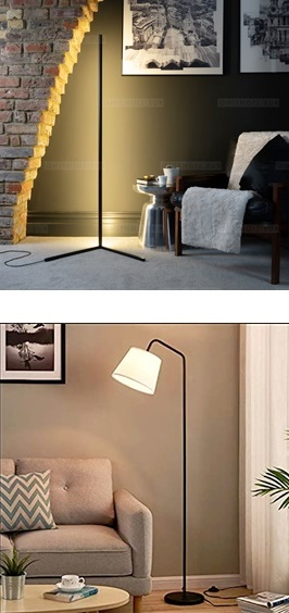 the corner floor lamp enhances the look of your house