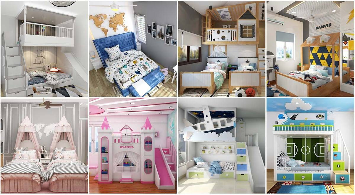Couple of Different Types of Kids Beds