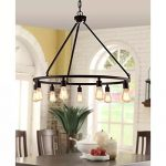 Creates style with the bronze chandelier