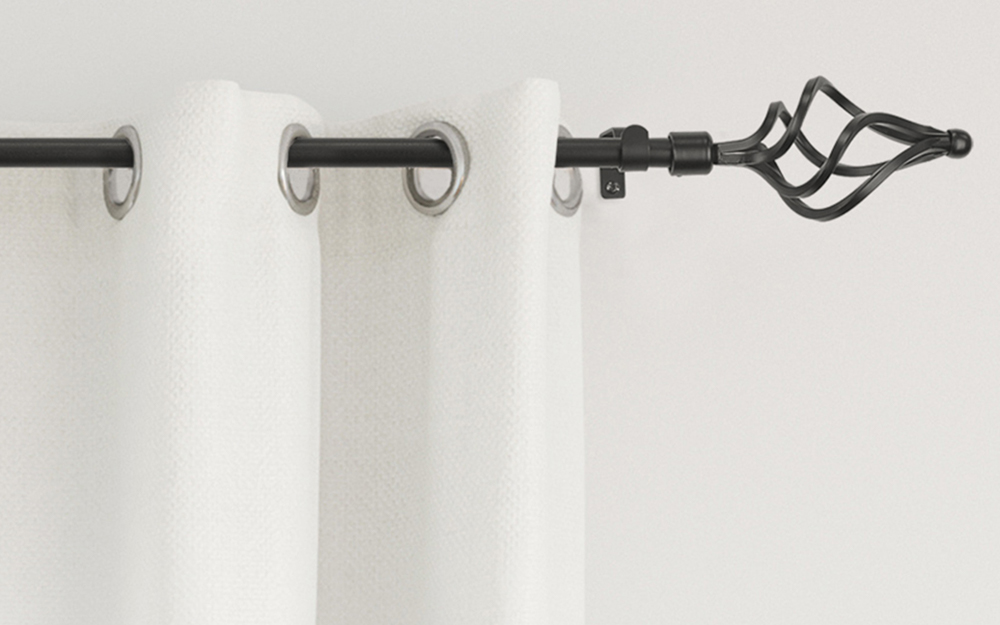 Curtain rod shapes and designs