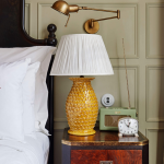 Decorate your room with yellow bedside lamps