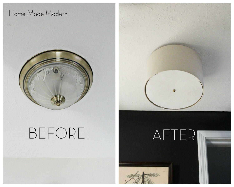 Diy bright light flush wall lamp