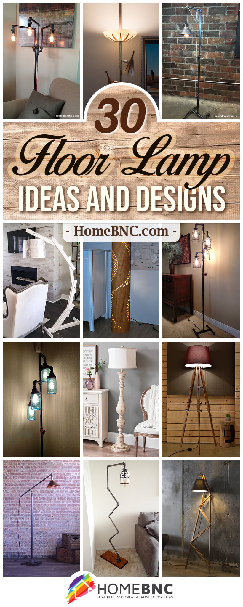Floor lamp with table – countless options for your home