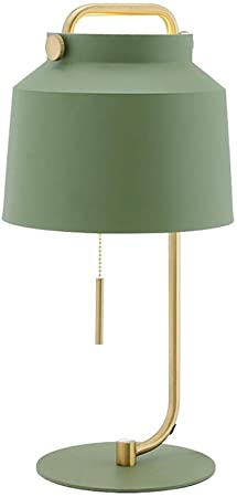 Green bedside lamps