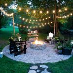 hanging lights outdoors