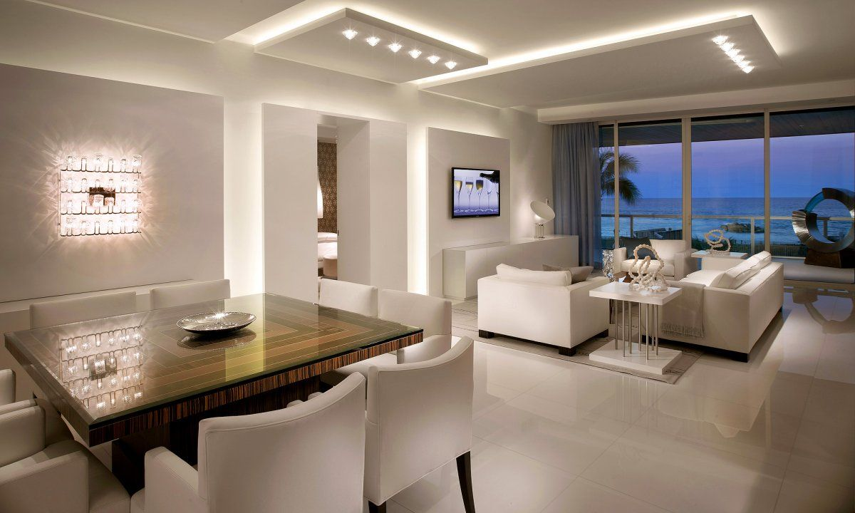 House with interior lighting