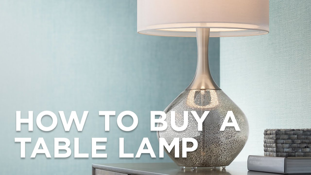 How to buy end table lamp?