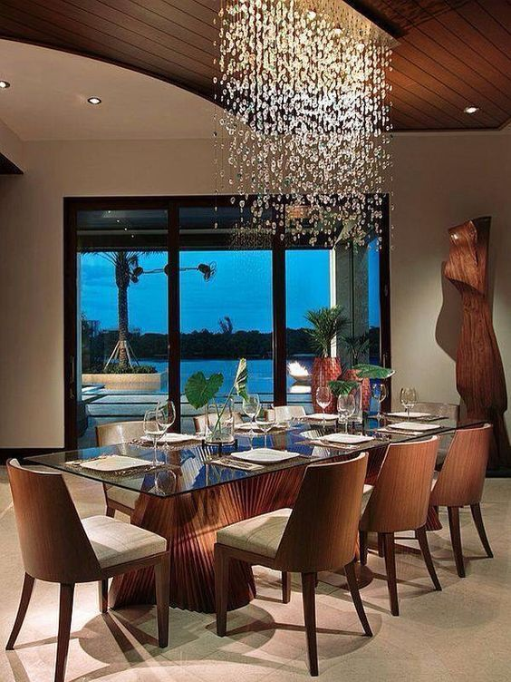 How to improve the interior with glass table lamp