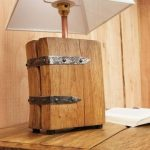 How to make a wooden lamp