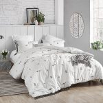 king duvet cover white gray