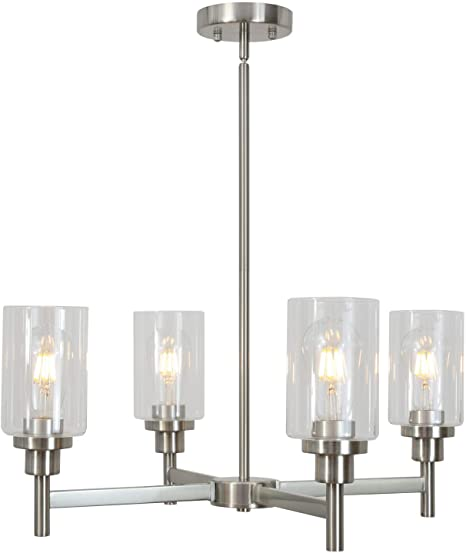 Lighting fixtures with the shades of the chandelier