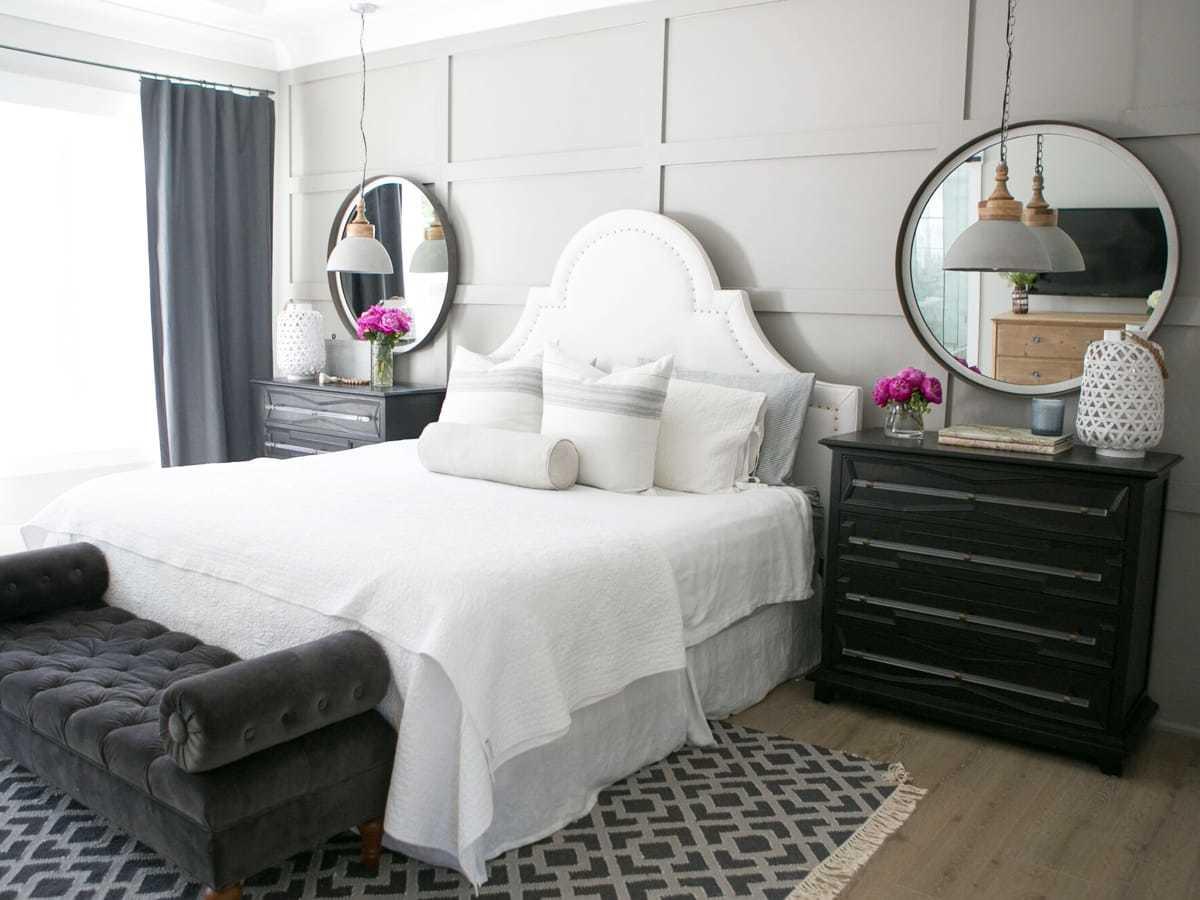 Making up furniture set of bedroom