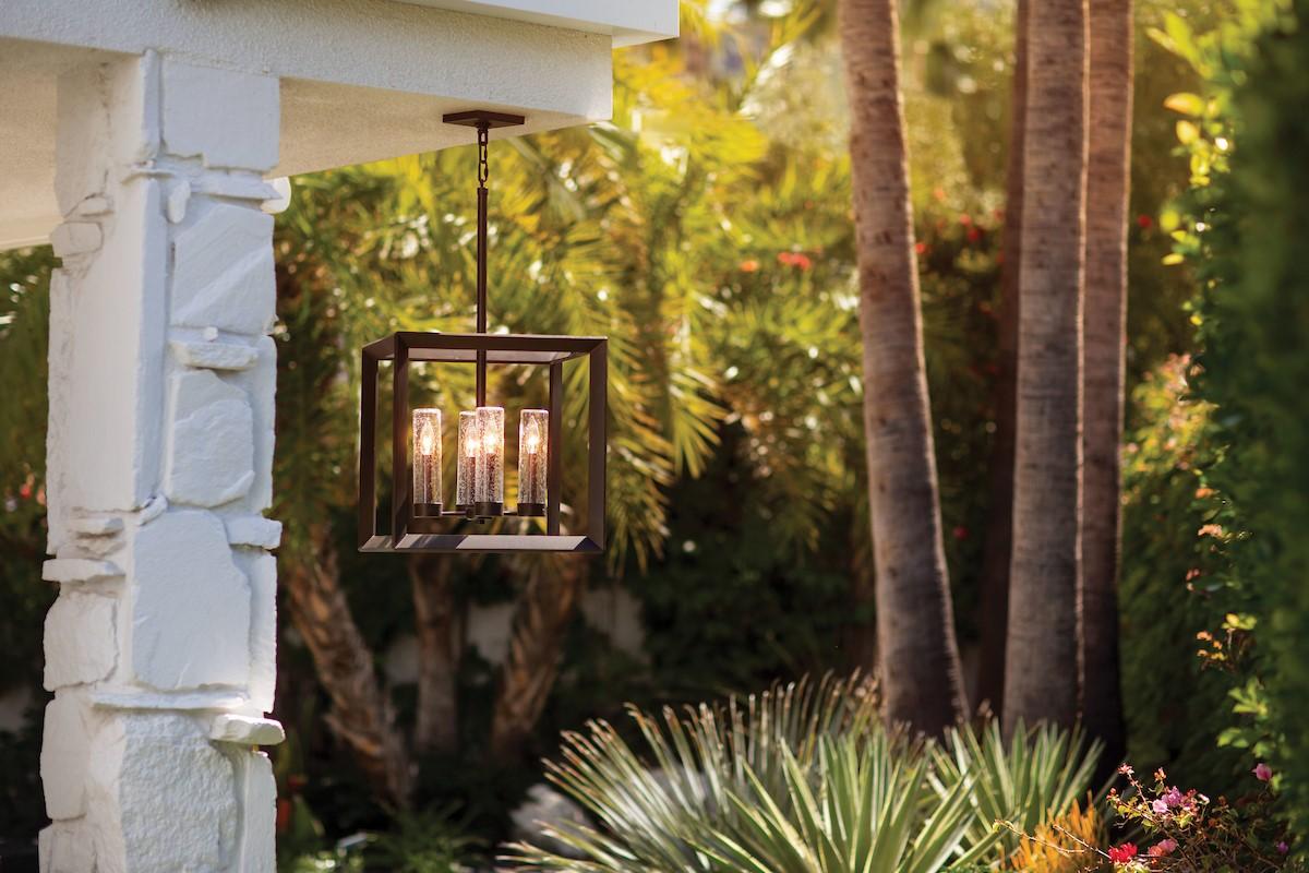 Modern chandelier outdoors