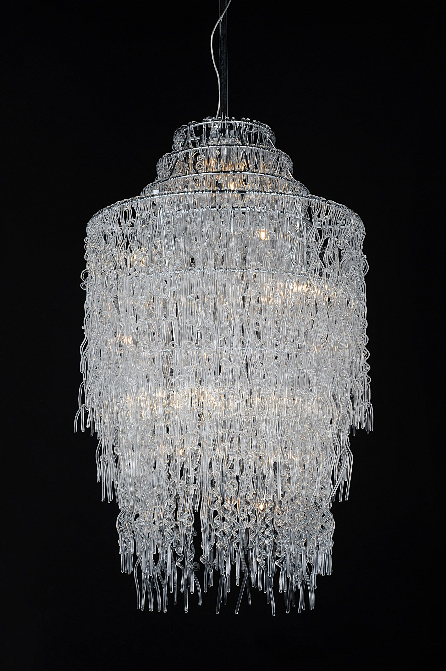 Nothing brighter than glass chandeliers