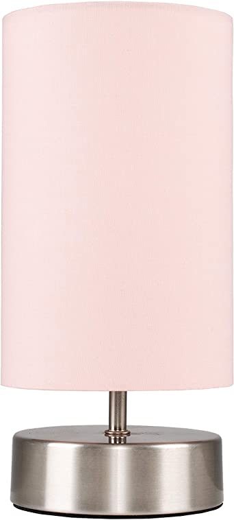 Pink bedside lamps
