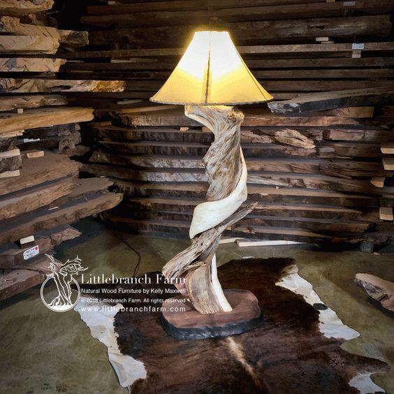 Rawhide work floor lamp