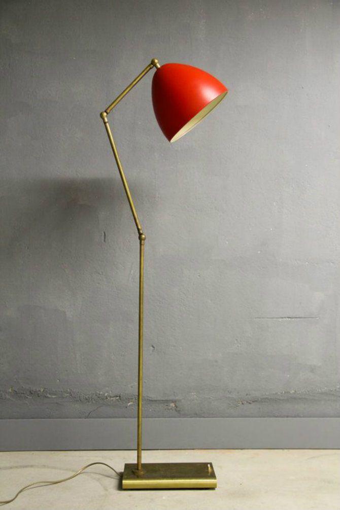 red floor lamp ideas