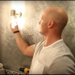 Replacing bathroom wall lamps