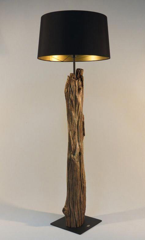 Rustic floor lamp make the interior look