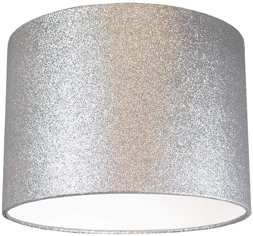 Silver shade lamp shade
