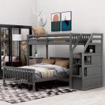 Space saving bunk beds twin over full for kids!