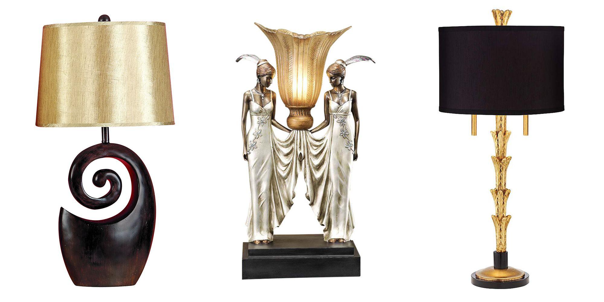 types of art deco lamps