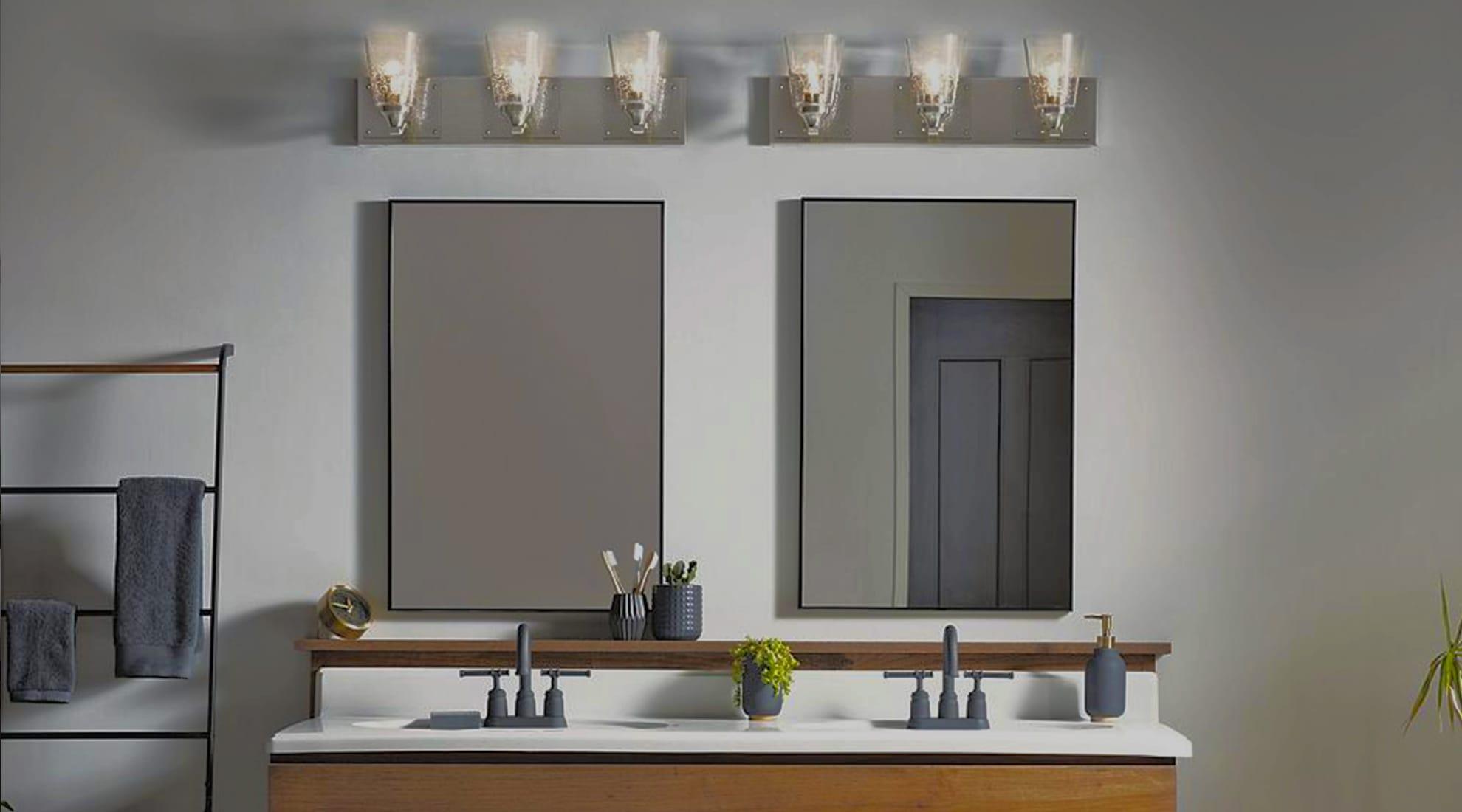 vanity bathroom lamps