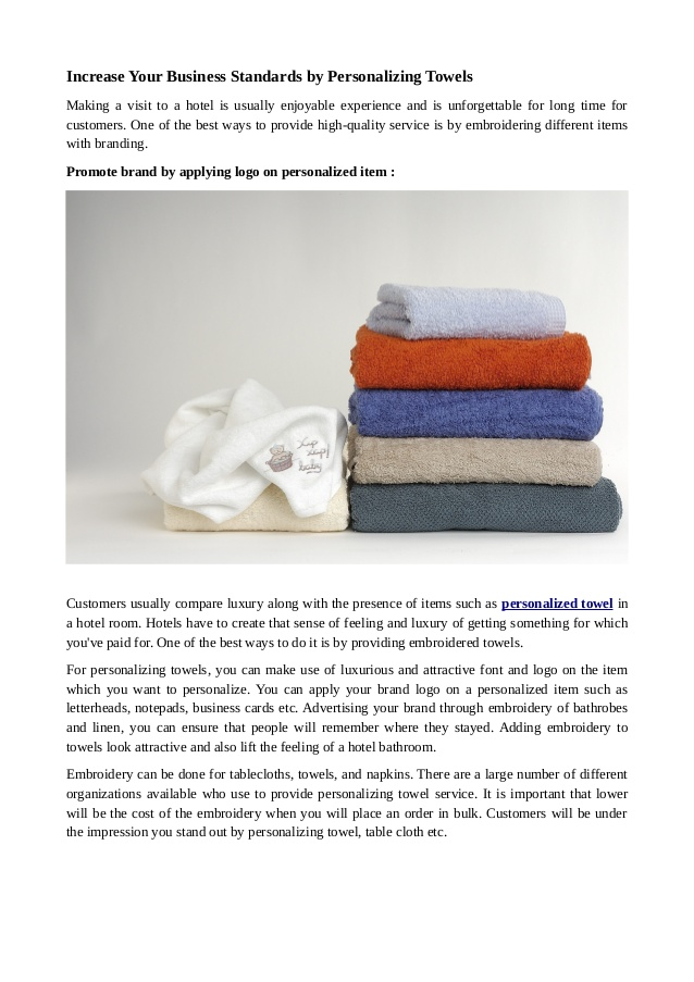 What you need to know about personalizing a towel